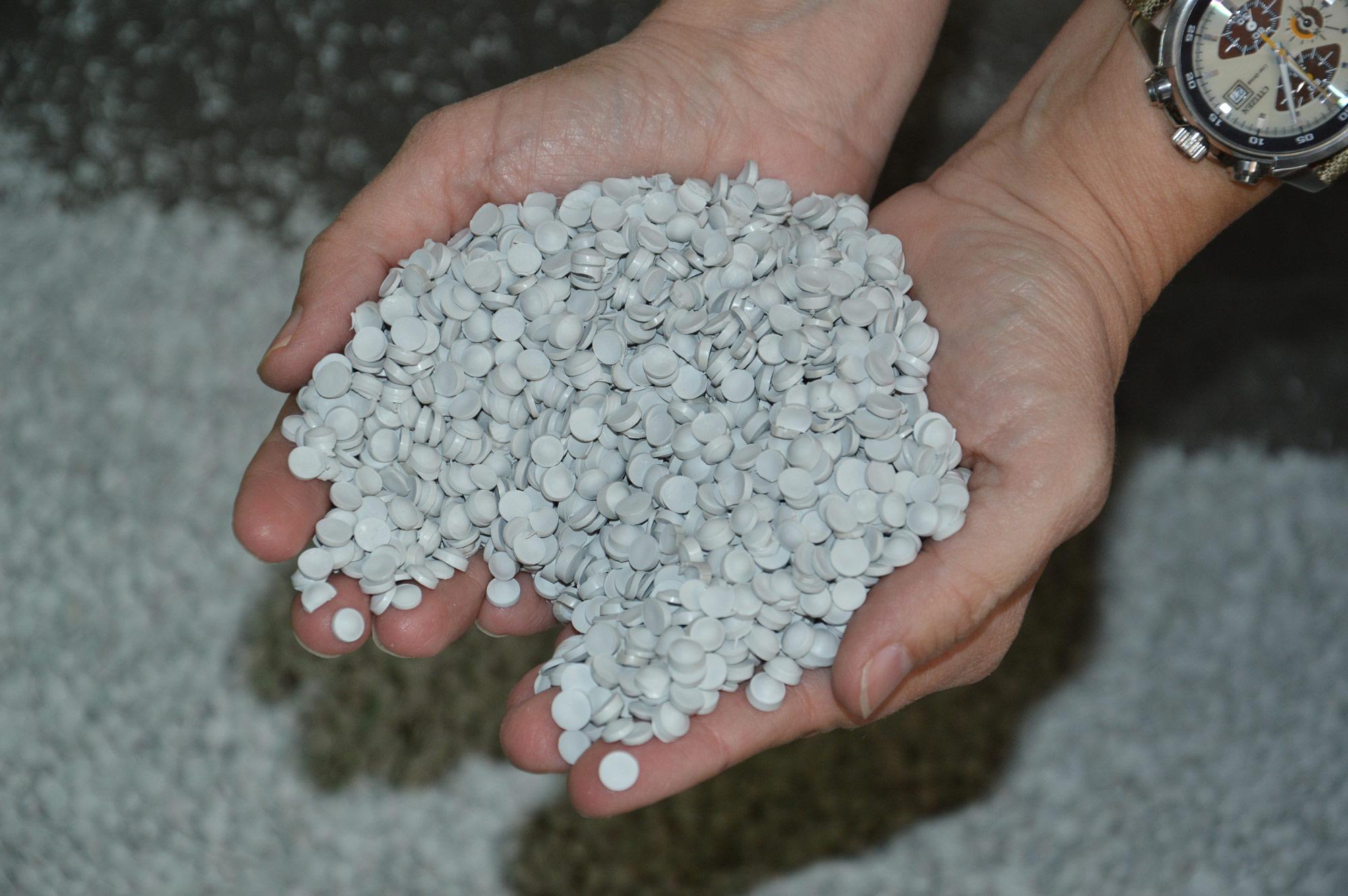 Granuli PVC rigenerati